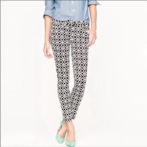 J. Crew Toothpick Jeans- Black and White